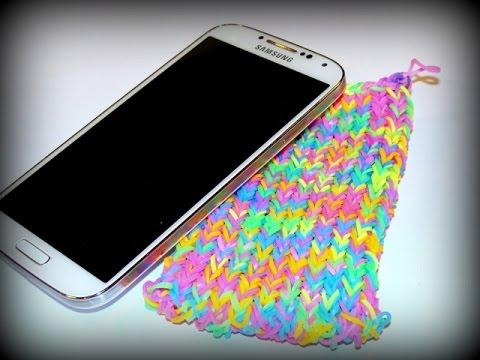 Handyhülle, Smartphone-Hülle mit Loom Bands und Rainbow Loom deutsch