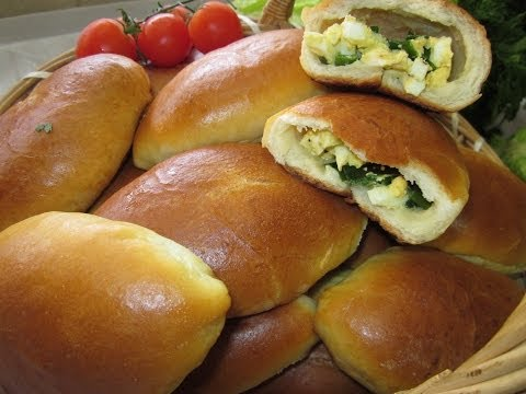 Пирожки с луком и яйцом в духовке пошаговый рецепт с без дрожжей