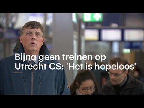 Utrecht CS vol met gestrande reizigers: 'Het is ho - RTL NIEUWS