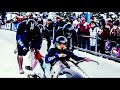 American mens bobsledding team in their final race of the season - Video