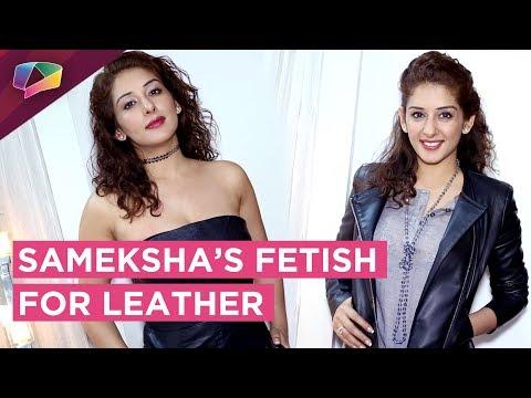 Sameksha Shows Her Leather Bags & Jackets Collecti