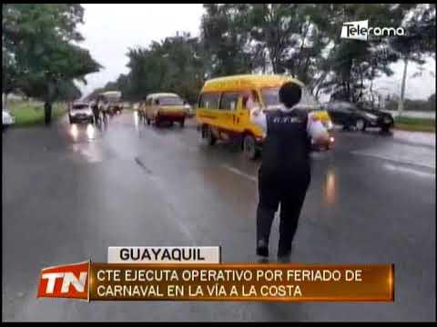 CTE ejecuta operativo por feriado de carnaval en la vía a la Costa