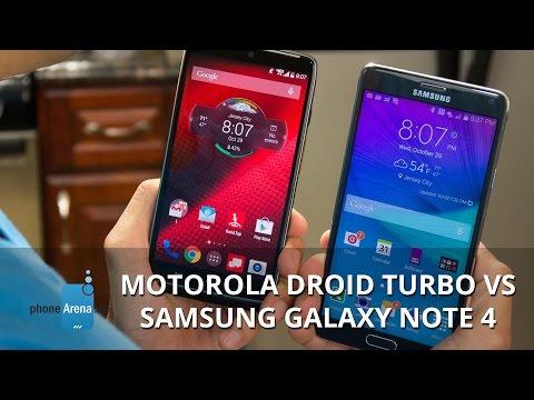 Video Motorola DROID Turbo vs Samsung Galaxy Note 4 download in MP3, 3GP, MP4, WEBM, AVI, FLV January 2017
