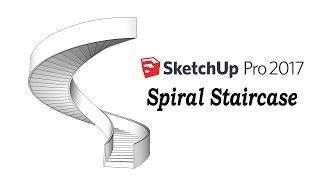 Video Sketchup Tutorial : How To Make A Spiral Staircase MP3, 3GP, MP4, WEBM, AVI, FLV Desember 2017
