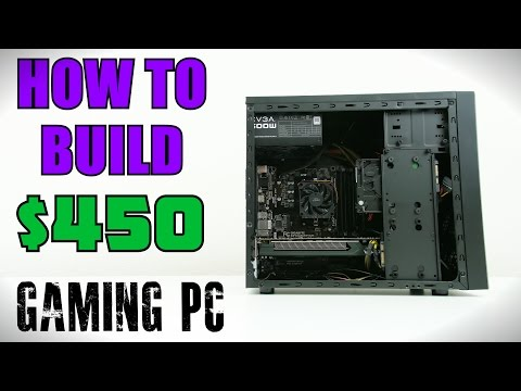 How To Build $450 Gaming PC w/ Windows Install