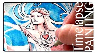 Watercolor Timelapse - Brave Nouveau World...