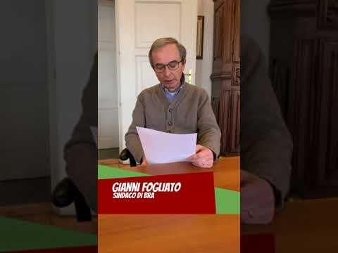 Andrà tutto bene: un augurio particolare dal Sindaco di Bra Gianni Fogliato (Video)