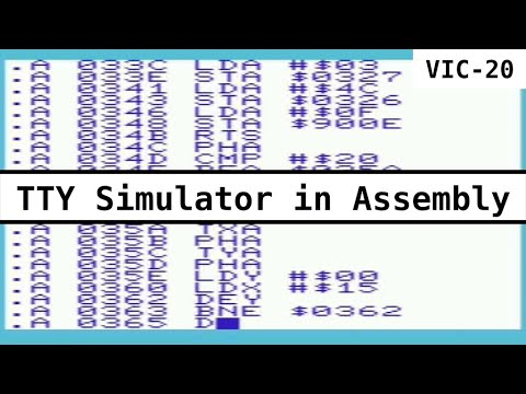 Creating a TTY Simulator in Assembly Language on the Vic-20