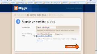 001 -¿Cómo Crear un Blog en Blogger? En Español