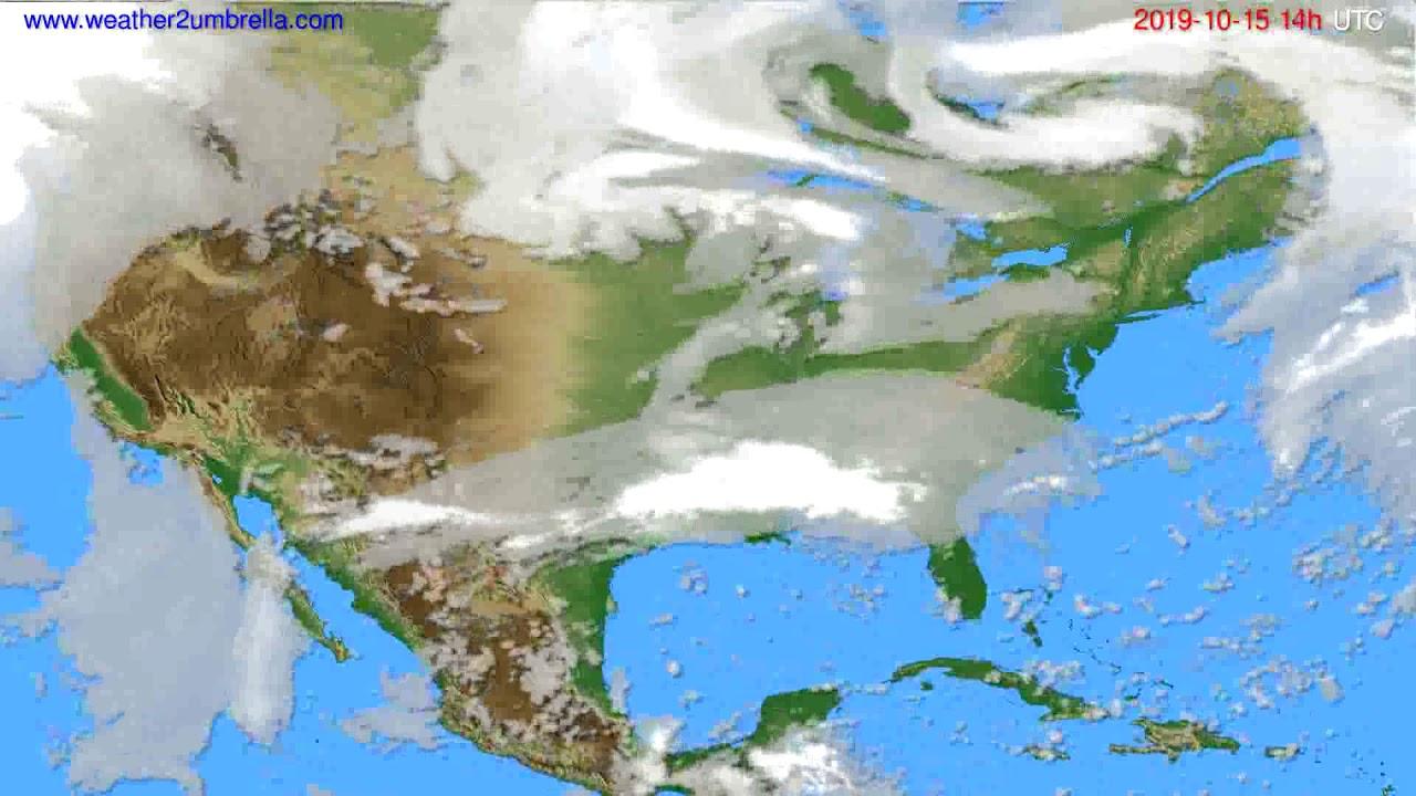 Cloud forecast USA & Canada // modelrun: 12h UTC 2019-10-13