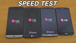 LG G5 vs LG G4 vs LG G3 vs LG G2 Combine speed test and benchmark test comparison. How fast is the new LG G5 compared to...