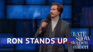 Ron Burgundy's EXCLUSIVE Stand-Up Comedy Debut On The Late Show