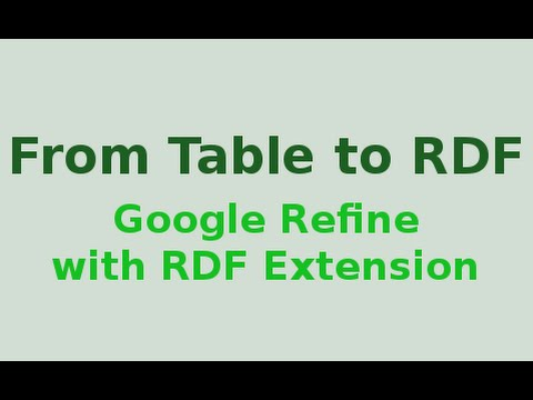 Google Refine with RDF extension: From Table to RDF