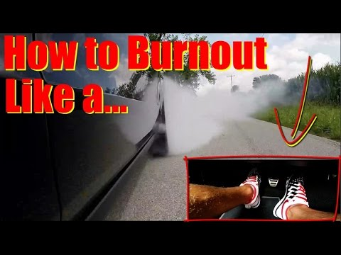 How to BURNOUT - This EPIC Instructor Teaches You Everything You Need to do a Burnout in ANY Car (видео)