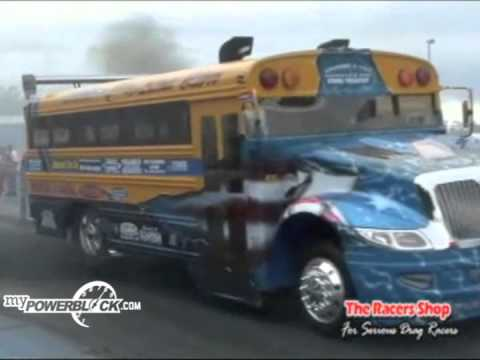myPowerBlock: School Bus at drag strip