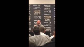 Fightful.com's Carlos Toro talks to UFC President Dana White at the NYC presser.