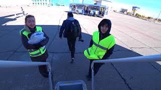 Download Lagu Перелет авиакомпанией Qazaq Air, рейс Астана - Жезказган - Астана, Bombardier Q400 Mp3