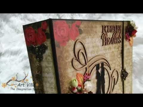 12x12 Scrapbook love theme / Bob n Betty / handamde album