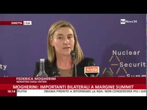 Summit Sicurezza Nucleare L'Aja: conferenza stampa Ministro Mogherini