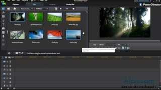 شرح إضافة فيديو أو صوت لبرنامج CyberLink PowerDirector R1