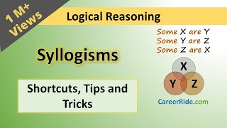 Crack the logical reasoning section of Placement Test or Job Interview at any company with shortcuts & tricks on Syllogism. Extremely helpful for the preparation of entrance exams like MBA, Banking – IBPS, SBI, UPSC, SSC, Railways etc.