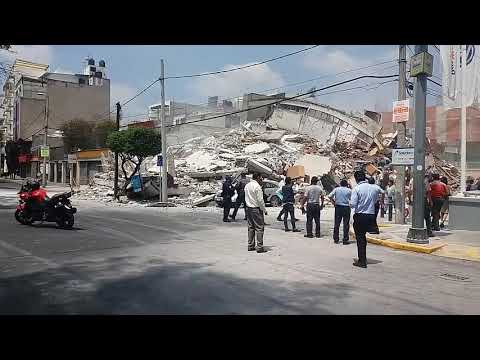 Temblor 19 Septiembre 2017 - Edificio Colapsado. (видео)