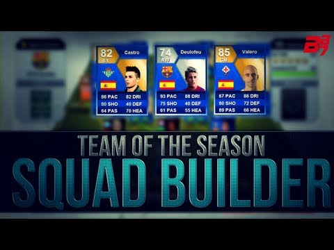 Fifa 13 Ultimate Team | Team Of The Season Hybrid Squad Builder ft Deulofeu/Ruben Castro!