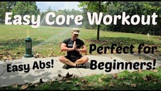 Easy Core Exercises for Beginners - Simple 8 min Ab Workout - YouTube