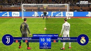 PES 2019 | Juventus vs Real Madrid | Final UEFA Champions League (UCL) | Penalty Shootout