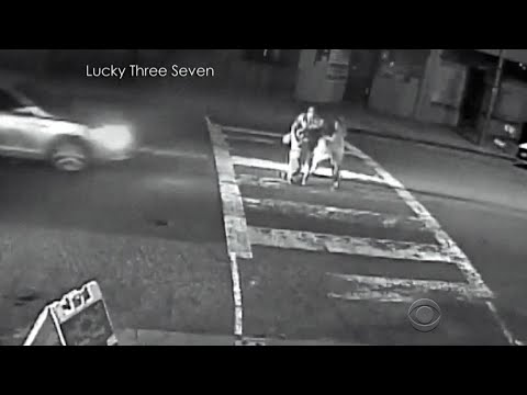 Video footage captures car hitting 3 people in crosswalk