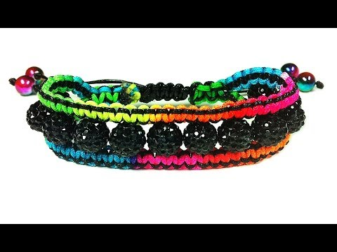 DIY: macrame bracelet shamballa