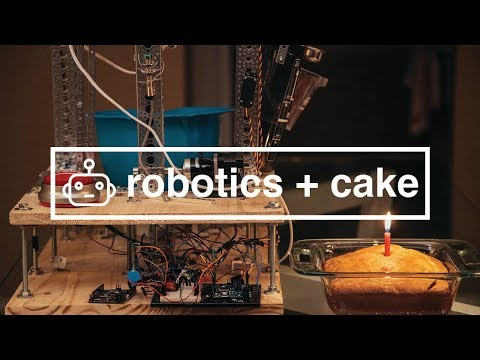Guy learns the basics of robotics, and tries to build a cake baking robot