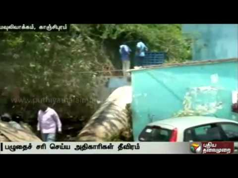 Live-report-Moulivakkam-roads-flood-due-to-leak-in-water-pipe