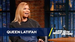 Queen Latifah chats about what it was like filming Girls Trip in the middle of ESSENCE Festival and reveals what she spent her first check on as a 17-year-old budding music star.» Subscribe to Late Night: http://bit.ly/LateNightSeth» Get more Late Night with Seth Meyers: http://www.nbc.com/late-night-with-seth-meyers/» Watch Late Night with Seth Meyers Weeknights 12:35/11:35c on NBC.LATE NIGHT ON SOCIALFollow Late Night on Twitter: https://twitter.com/LateNightSethLike Late Night on Facebook: https://www.facebook.com/LateNightSethFind Late Night on Tumblr: http://latenightseth.tumblr.com/Connect with Late Night on Google+: https://plus.google.com/+LateNightSeth/videosLate Night with Seth Meyers on YouTube features A-list celebrity guests, memorable comedy, and topical monologue jokes.NBC ON SOCIAL Like NBC: http://Facebook.com/NBCFollow NBC: http://Twitter.com/NBCNBC Tumblr: http://NBCtv.tumblr.com/NBC Pinterest: http://Pinterest.com/NBCtv/NBC Google+: https://plus.google.com/+NBCYouTube: http://www.youtube.com/nbcNBC Instagram: http://instagram.com/nbctvQueen Latifah Bought a Gold Tooth with Her First Paycheck- Late Night with Seth Meyershttps://youtu.be/knUvj-UQml0Late Night with Seth Meyershttp://www.youtube.com/user/latenightseth