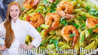 Avocado Chimichurri Shrimp Pasta by Tatyana's Everyday Food