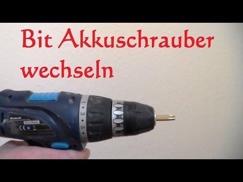 Akkuschrauber Bit tauschen - Bit wechseln beim Akkuschrauber