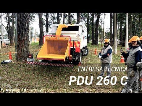 Treinamento técnico de operação - Triturador de Galhos PDU 260 C Lippel