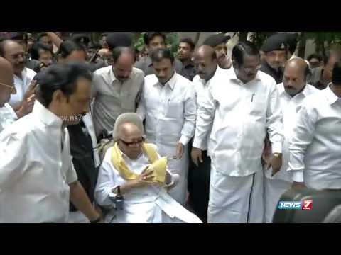 DMK Leader Kalaignar Karunanidhi celebrates his 92nd Birthday