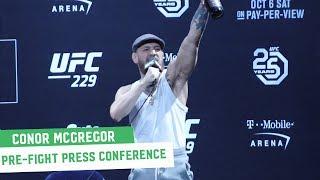 Video Conor McGregor Full Las Vegas Press Conference || UFC 229 MP3, 3GP, MP4, WEBM, AVI, FLV Oktober 2018