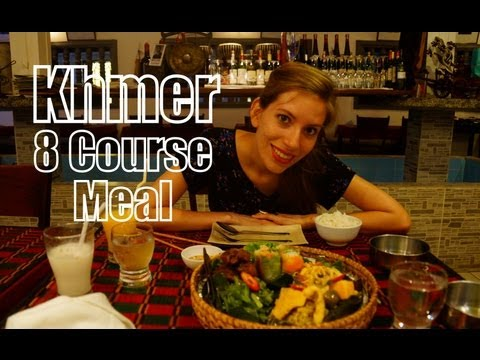Eating a Khmer 8 Course Dinner in Siem Reap, Cambodia