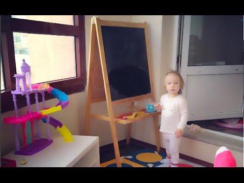 ВЛОГ: Изменения в детской комнате,  балкон ,  суши, Катя смешная ест мороженое)