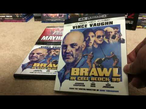 Brawl In Cell Block 99 (2017) & Mayhem (2017) Full Movie Unboxing. 4K Edition. RLJE Films