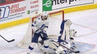 Louis Domingue makes incredible kick save by NHL