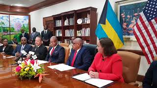 The Signing of a Letter of Agreement on Narcotics Control and Law Enforcement