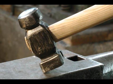 Forging Rounding Hammer from a clubhammer, Aus einem Fäustel einen Ballhammer schmieden