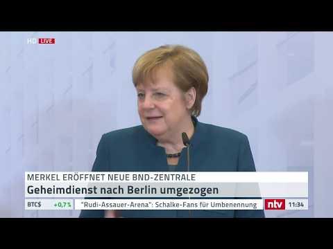 Bundeskanzlerin Merkel eröffnet die neue BND-Zentrale ...