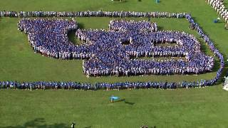 Video of UB students forming the UB logo