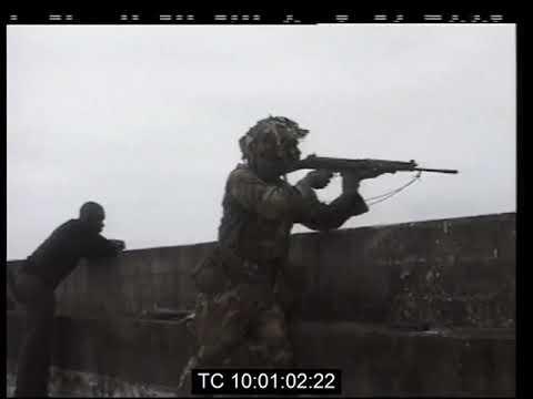Nigerian Troops Battle Army Coupists & Rebel Militias in Sierra Leone   ECOMOG   June 1997