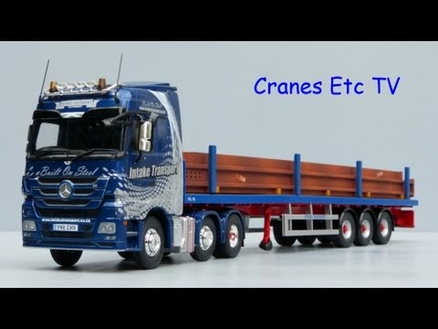 Cranes Etc TV: Corgi Mercedes-Benz Actros + Trailer 'Intake Transport' Review