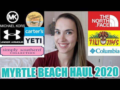 Tanger Outlets + Barefoot Landing Haul || Myrtle Beach SC Labor Day Sales